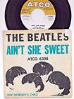 "THE BEATLES-""AIN'T SHE SWEET""-Atco 6308 1964 45 & PIC SLEEVE EX *NO DRILL HOLE* , thumbnail_release224_391867208166.jpg"