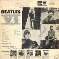 Release price guide: Beatles VI on label Capitol with